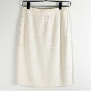St John Collection Womens Cream Knit Skirt